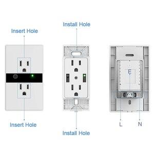 "Image 4 - WiFi חכם חשמלי קיר שקע ארה""ב אלחוטי תקע חנויות מגע לוח בקרת אורות עבודת מכשירי חשמל לבית עם Alexa Google"