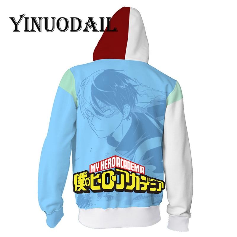 Fans Wear My Hero Academia Hoody Sweatshirt Shoto Todoroki Boku No Hero Academia Zip Up Hoodie Cosplay Costumes Jacket in Hoodies amp Sweatshirts from Men 39 s Clothing