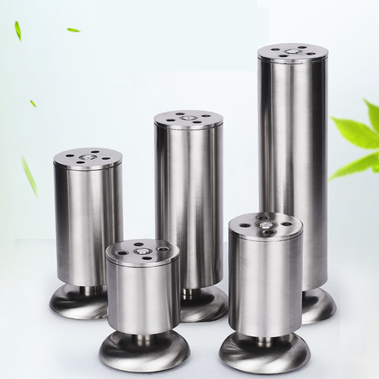 4pcs 80-200mm Furniture Adjustable Cabinet Legs With Rubber Mat Stainless Steel Furniture Legs Cabinet Table Sofa Bed Feet