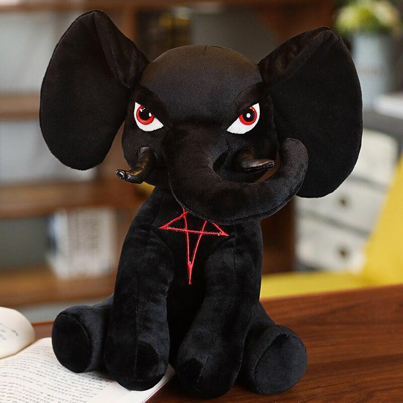 KILLSTAR Toys Black Elephant Dog British Tide Brand Devil Doll Plush Rabbit Black Pentacle Elephant Hydra Anubis Birthday Gifts