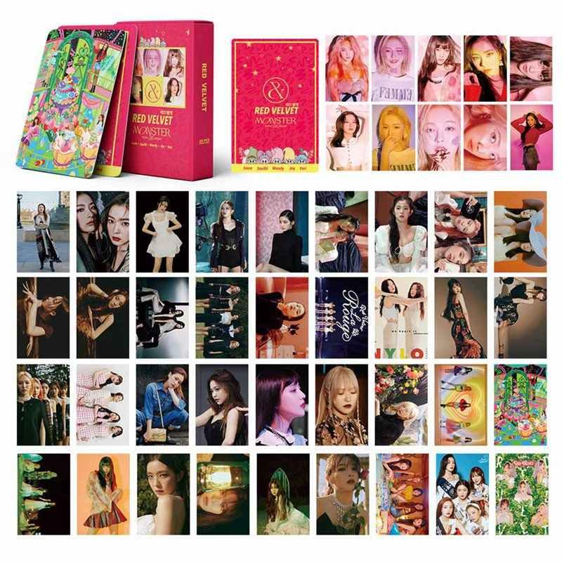 54 ピース/セットkpop赤ベルベットphotocardアルバムポスターカード高品質hd画像自己紙lomoカードファンのギフト