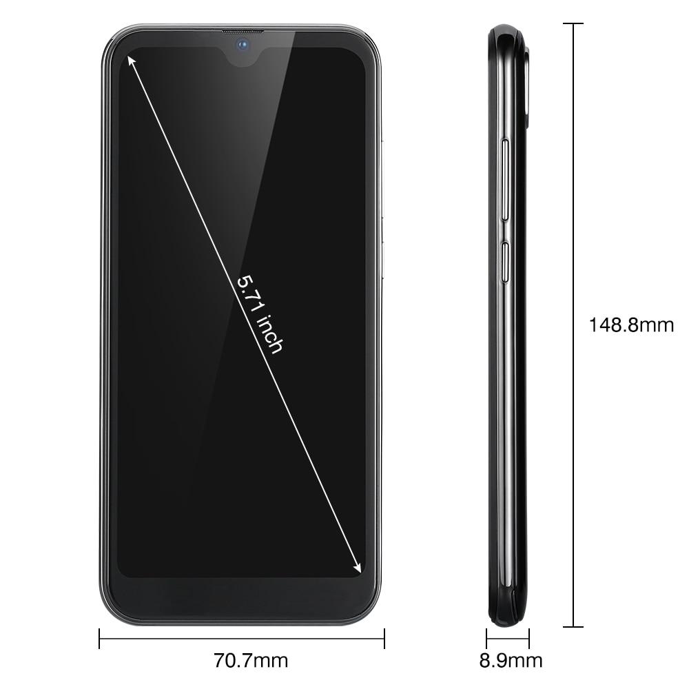 Cubot R19 4G Smartphone 5.71 ''Android 9.0 Quad Core empreinte digitale visage ID téléphone portable 3GB RAM 32GB ROM - 5