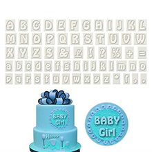 64Pcs/Set Alphabet Fondant Molds Pastry Chocolate Cookie Cutter Clay Mould Cake Molds Decor Baking Tool Kitchen Accessories