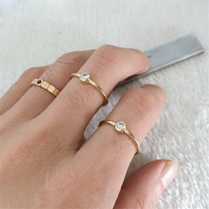 Gold Filled Knuckle Rings Minimalism Indian Jewelry Anillos Mujer  Bague Femme Anelli Donna Aneis D'not Fade Boho Ring For Women