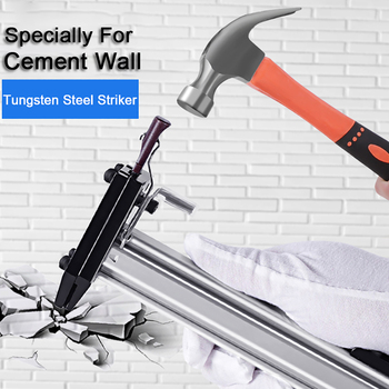 Manual Steel Nail Machine Cable Slot Nailing Device Semi Automatic Cement Nail Machine Repair AccessoriesTungsten steel for nail hq ng01 manual steel nail gun semi automatic cement nail gun wire slot nailing device nailing machine