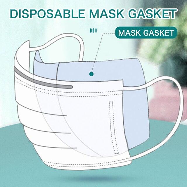 100Pcs Mask Gasket Respirator Mask Filter Cotton Mat Cartridge Anti Fog Prevention And Haze Anti Dust Flu Mouth Face Mask Gasket