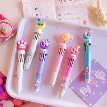 TOPSTHINK Stationery ballpoint pen school supplier 10 colors Convertible cute cartoon student 1 pc