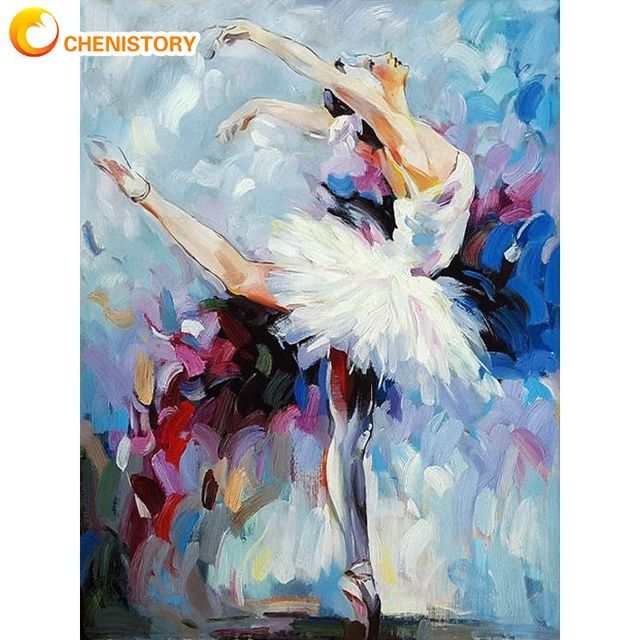 Chenistory Набор для рисования по номерам взрослых балетных