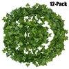 12Packs Artificial Ivy Flower Garland Fake Vines Leaf Hanging Plants Garland Wedding Home Garden Office Wedding Wall Decoration