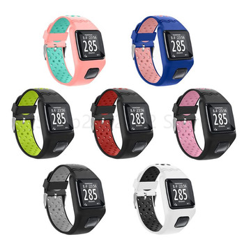 Shockproof Soft Silicone Watchband Wrist Strap Bracelet Replacement for TomTom 1 Multi-Sport GPS HRM CSS AM Cardio Runner Watch