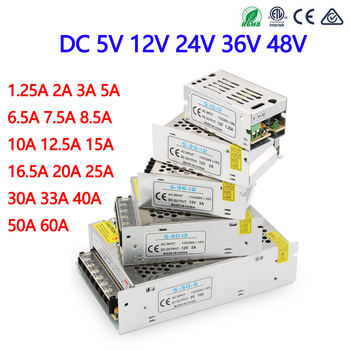 Power Supply 12v 24v 5v 36v 48v Transformers 12V 1A 2A 3A 5A 6.5A 10A 15A 20A 25A 30A 40A 50A 60A 12v power supply for led strip image