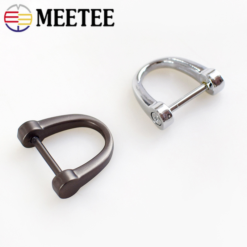 Meetee 10 20 30pcs 17mm Metal Key D Ring Horseshoe Buckle DIY Bags Garment Craft Sewing Decorative Accessories BD320 in Buckles Hooks from Home Garden