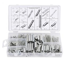 200pcs 20 Sizes Accessories Extension And Compression Coil Portable Hardware Tool Spring Set Metal Steel Assorted Kit With Box