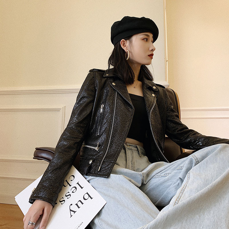 Natural Sheepskin Coat Female Autumn Spring Coats Korean Streetwear Genuine Leather Jacket Women Real Leather Coats 5899