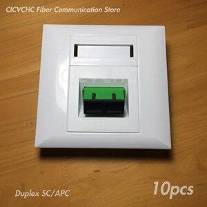 Image 2 - Panneau de 10 pièces 86x86mm pour adaptateur SC Duplex ou adaptateur Quad LC/blanc/FTTH ODN