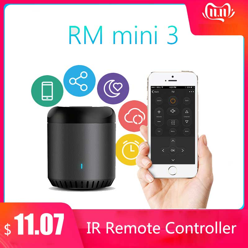 Broadlink RM Mini3 Universal Intelligent WiFi/IR/4G Wireless IR Remote Controller Via IOS Android Smart Home Automation 2019 New