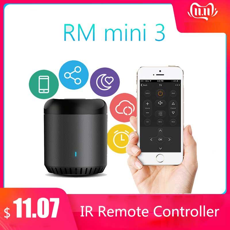 Broadlink RM Mini3 Universal Intelligent WiFi/IR/4G Wireless IR Remote Controller Via IOS Android Smart Home Automation 2019 New