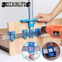 Perforadora de agujeros desmontable, herramienta de mano, guía de broca central, conjunto de herramientas de carpintería, manga, accesorios del armario, localizador de taladro de madera