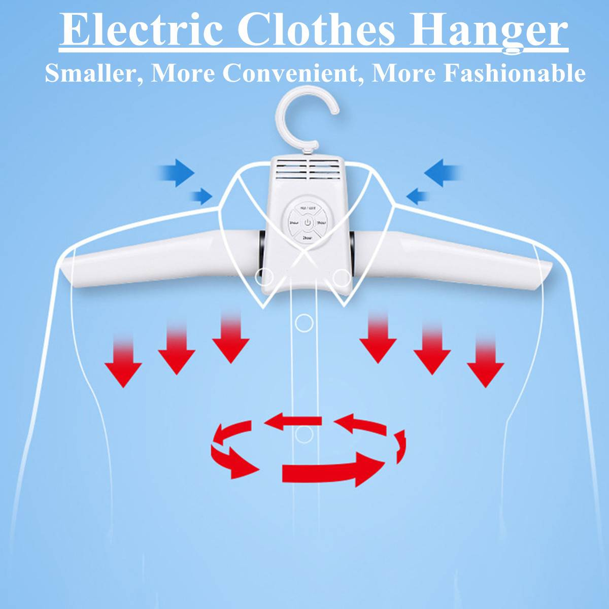Portable Clothes Hangers Electric Clothes Dryer Smart Shoes Dryer Rack Hot&Cold Dual-use Home Travel Rack Hangers US/EU Plug