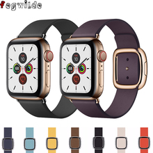 Modern Buckle Strap For Apple Watch 4 5 band 44mm 40mm iwatch band 42mm 38mm Genuine Leather bracelet watchband apple watch 4 5 genuine leather watchband strap for apple watch band 42mm 38mm