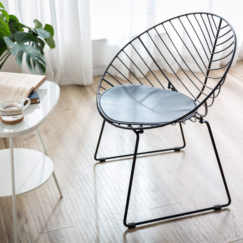 Northern Europe Ins Iron Wind Chair Concise Modern Household Dining Chair Cafe Meeting Negotiate Chair