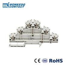 10Pcs DLD-2.5-3VN  Instead of PHOENIX CONTACT Connectors Triple layers Electrical Wire Spring Terminal Block цена