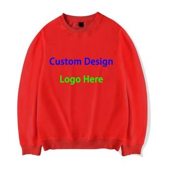 New Fashion Custom Men O-neck Hoodies Logo and Design Sweatshirt Men Tops clothing Print Image Drop Shipping animal print drop shoulder sweatshirt