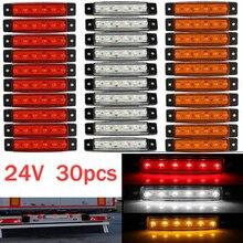 30x6 светодиодный светильник SMD 24 В Белый Красный Оранжевый грузовик прицеп пикап боковой индикатор отметки лампы караван трактор kart