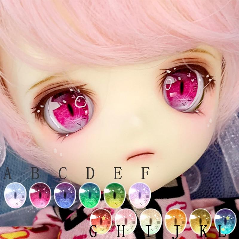 BJD Eyes 10mm-14mm-18mm-24mm Eyes Doll Half Cover Eyes For 1/8 1/6 1/4 1/3 BJD DD Doll Accessories Doll Eyes
