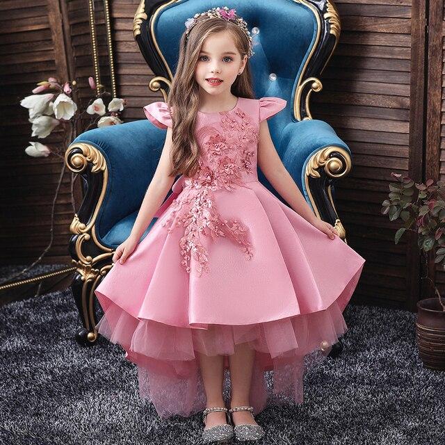 Wedding Tulle Lace Long Girl Dress  2