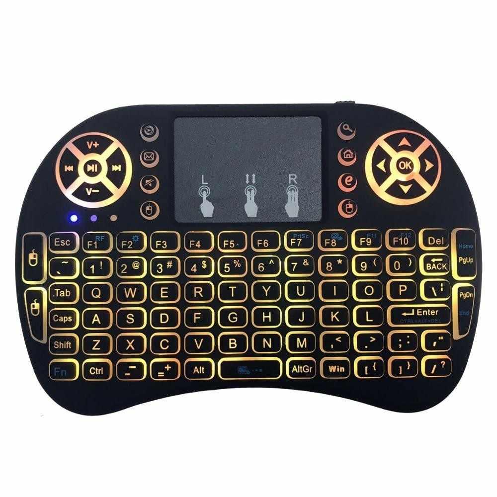 Seenda Mini 2.4G Draadloos Toetsenbord Touchpad Kleur Backlit Air Mouse Russisch Spaans Toetsenbord Voor Laptop Notebook Tv Box