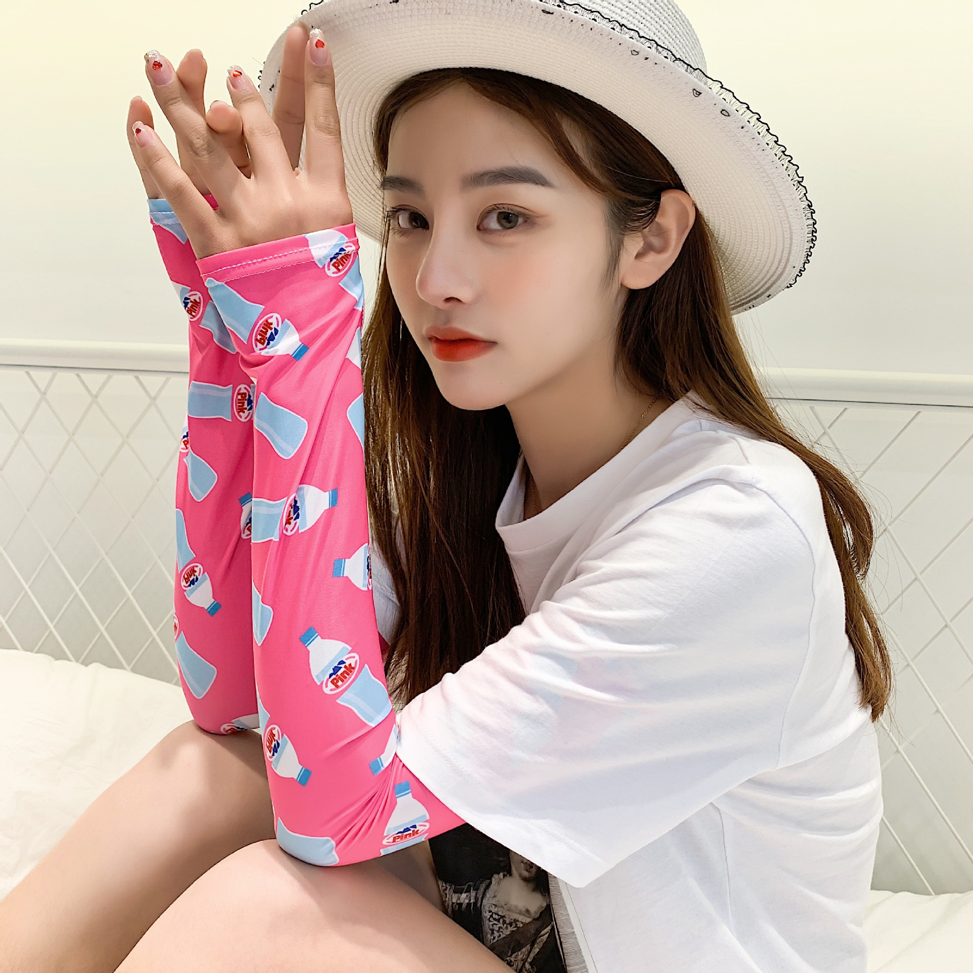 20 Colors HOT New Design Cold Sleeve Cuffs Cute Sunscreen Arm Sleeves Armguard Summer Driving Arm Warmers