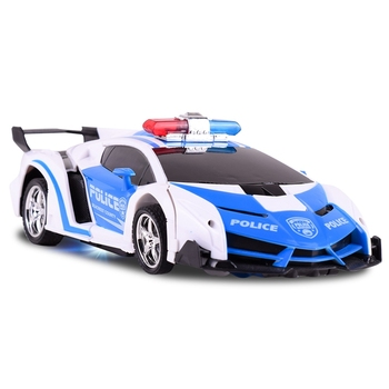 RC Car Transformation Robots Sports Vehicle Model Robots Police Car Toys Cool Deformation Car Kids Toys Gifts For Boys 2