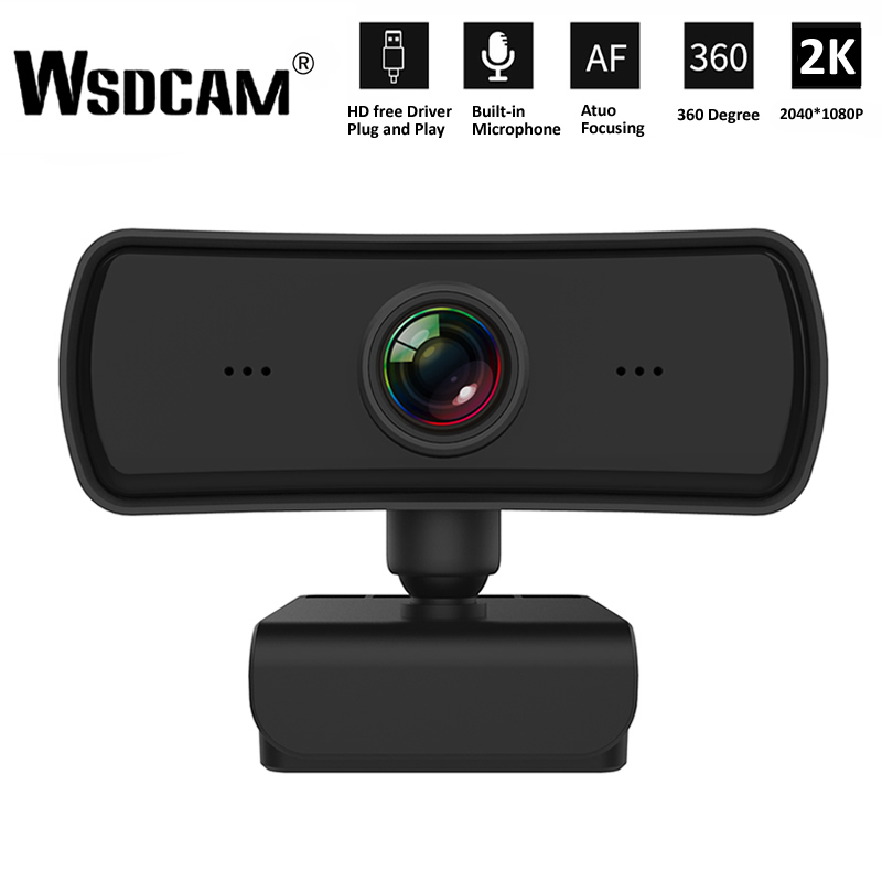 2K 2040*1080P Webcam HD Computer PC WebCamera with Microphone Rotatable Cameras for Live Broadcast Video Calling Conference Work 1
