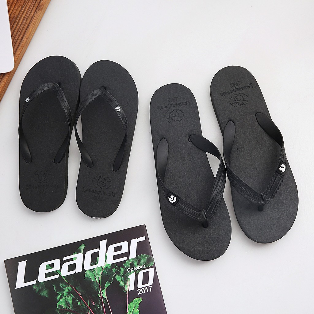 Men Slippers Slides-Shoes Flip-Flops Fashion Summer Beach Animal Classic Solid title=