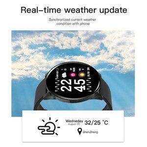 Image 4 - W8 스포츠 스마트 워치 1.3 인치 전체 터치 스크린 남자 여자 날씨 IP67 방수 SmartWatch 안 드 로이드 IOS 피트 니스 시계