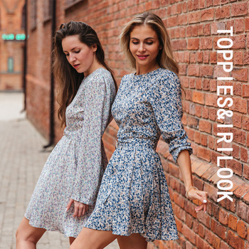 Toppies 2021 Mini Dress Print O Neck Long Sleeve Belt Sweet Crushed Floral Dress Casual Women Colorful Holiday Dress 1
