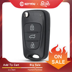 KEYYOU Новое пульт дистанционного ключа оболочки для hyundai I20 I30 IX35 I35 акцент Kia Picanto Sportage K5 3 кнопки флип складной пульт дистанционного ключа