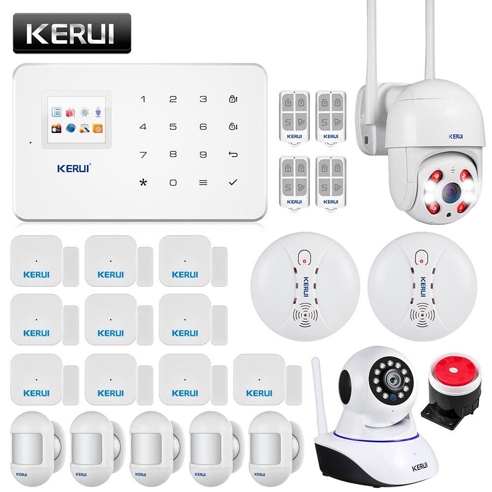 KERUI G18 sistema de alarma Detector de humo Cámara WIFI para exteriores de la cámara de seguridad de Alarma de Sensor de movimiento, sistemas de seguridad para hogar
