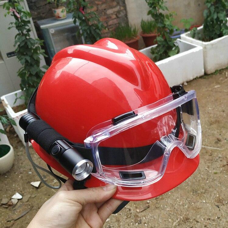 VIP link 40pcs Rescue Helmet Goggles with Headlight Flashlight 10 black+10 red+10 white+10 blue