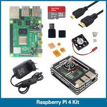 ROBOT de Raspberry Pi Modelo B, kit de 1G 2G 4G RAM 2,4G y 5G WiFi Bluetooth 5,0 + Micro HDMI + estuche + fuente de alimentación + SD de 32GB RPI4