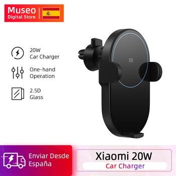 Xiaomi Wireless Car Charger 20W Max Electric Auto Pinch 2.5D Glass Ring Lit For Mi 9 (20W) MIX 2S / 3 (10W) Qi