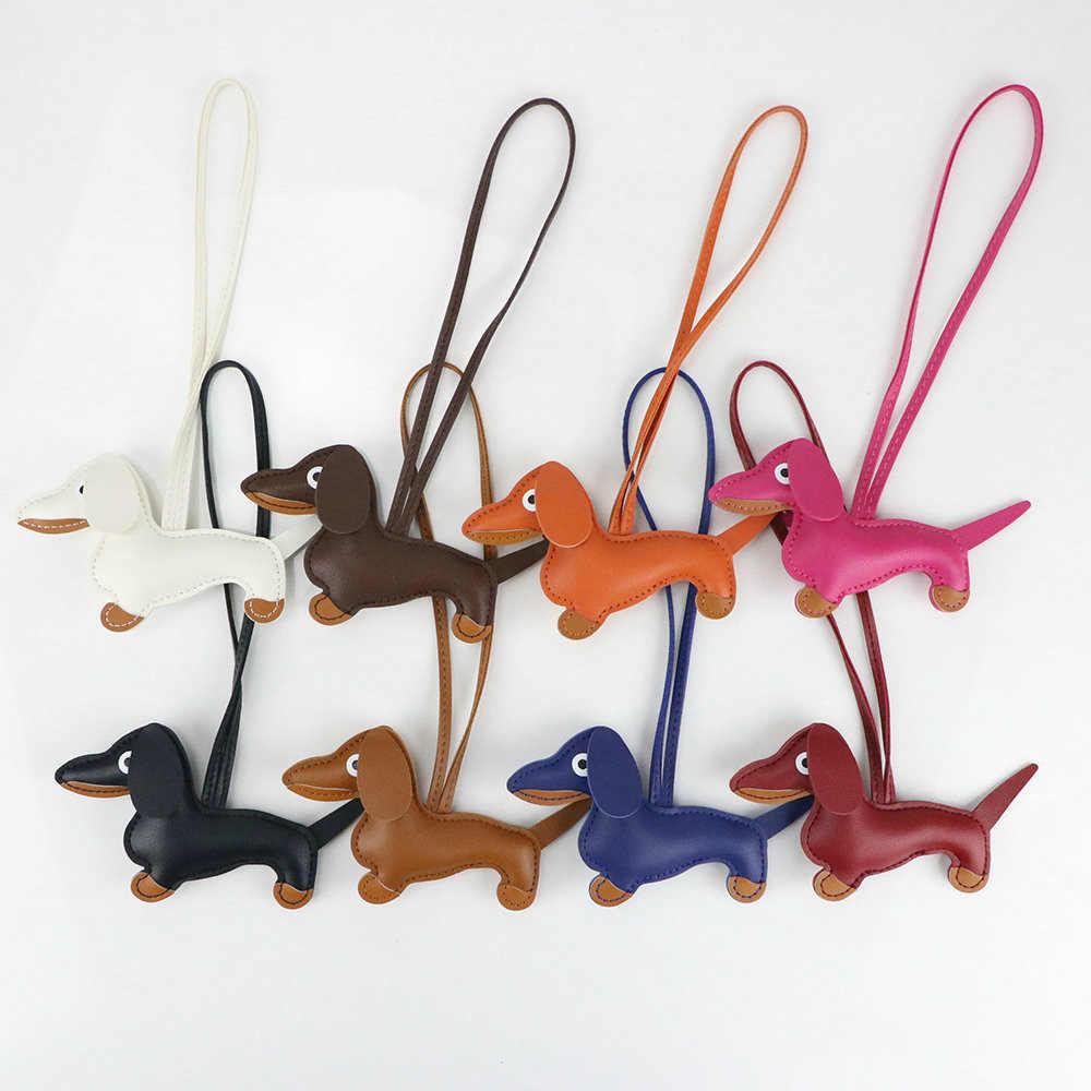 Border Collie cuero perro peque/ño llavero VANCA craft-collectible llavero hecho en Jap/ón