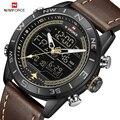 Люксовый бренд NAVIFORCE мужские часы армейские военные наручные часы светодиодные цифровые водонепроницаемые спортивные часы кварцевые часы ...