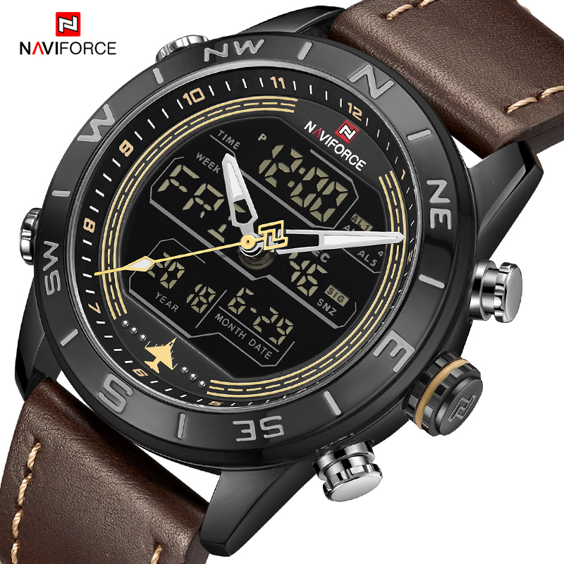 Luxury Brand NAVIFORCE Men's Watch Army Military WristWatch LED Digital Waterproof Sport Watches Quartz Clock Relogio Masculino
