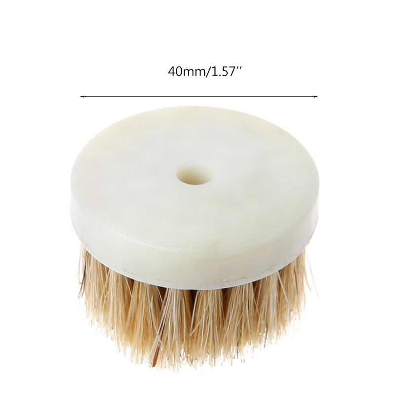 40mm Drill Powered Scrub Heavy Duty Cleaning Brush Head With Bristles For Cleaning Car Carpet Bath Dust in Brush from Tools