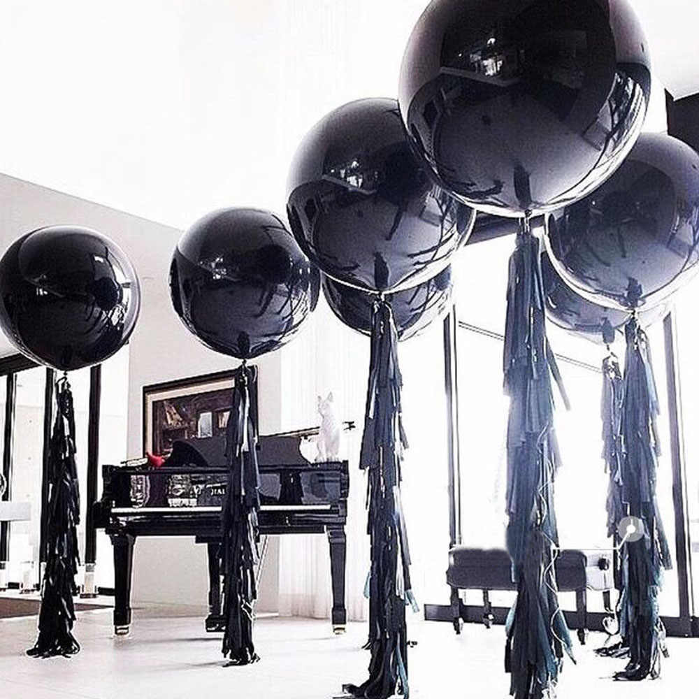 Black Round Latex Balloons 36 Inches Wedding Decoration Helium Big Large Giant Balloons Birthday Party Decor Inflatable Air Ball