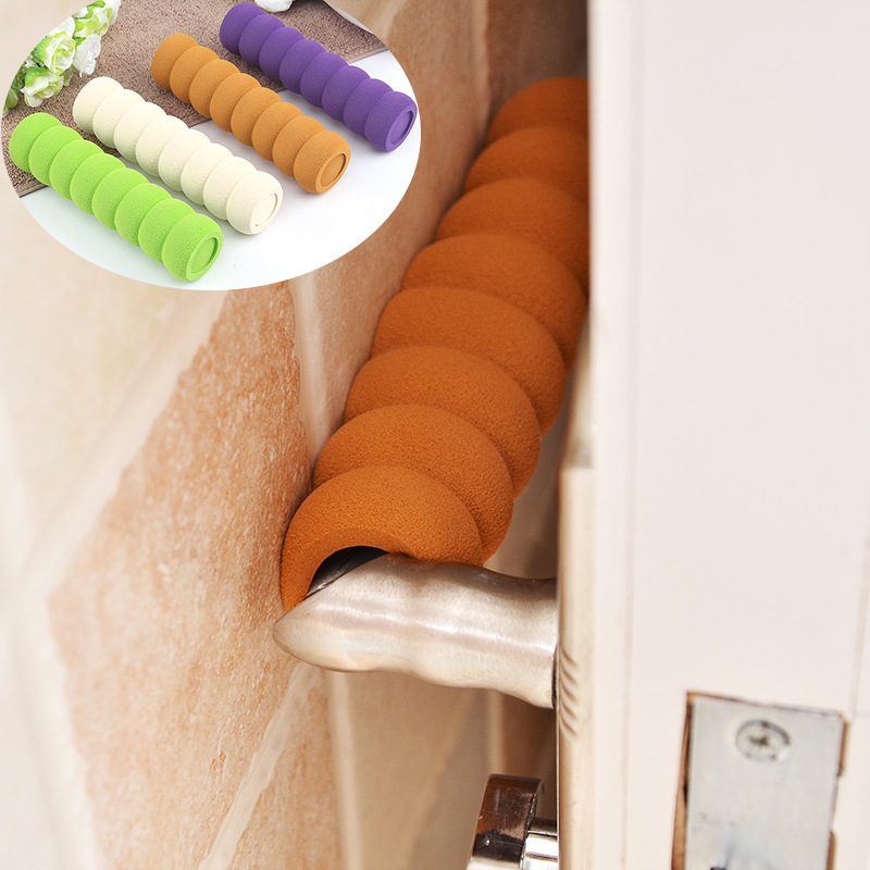 1Pcs Door Knob Cover Silencer Crash Pad Wall Protectors Silicone Door Knob Protector Anti Collision Home Accessories