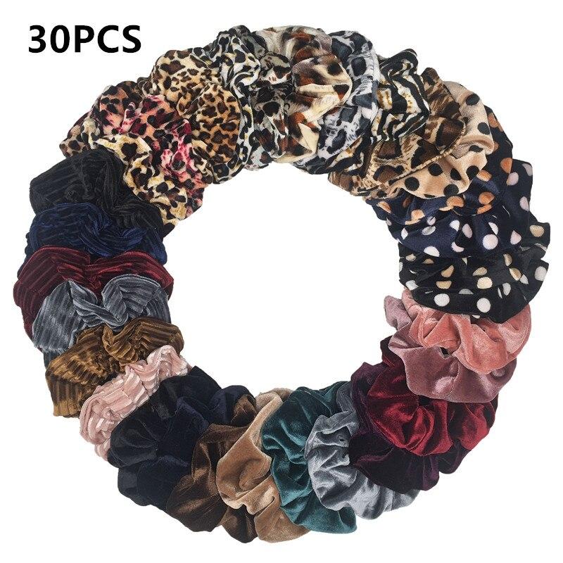 Hair-Scrunchies Velvet-Bands Satin Elastic Ropes Girls Women for Chiffon 50pcs/40/30-/..