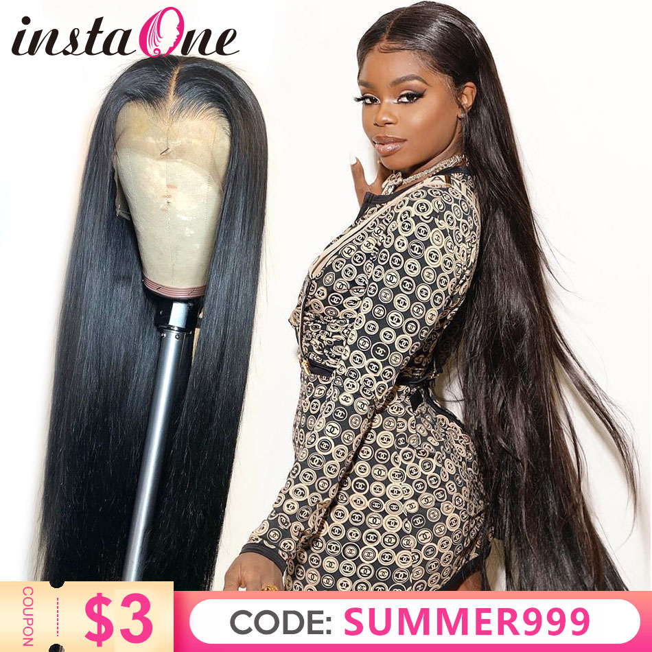 28 30 Inch Brazilian Straight 13x6 Lace Front Human Hair Wigs Pre Plucked With Baby Hair 180 Density Long 360 Lace Frontal Wig